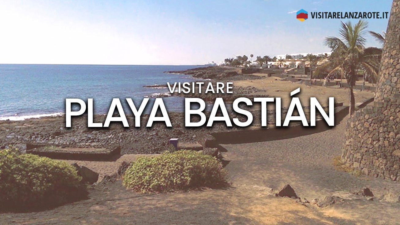 Playa Bastián, Costa Teguise   Spiaggia dell'isola di Lanzarote