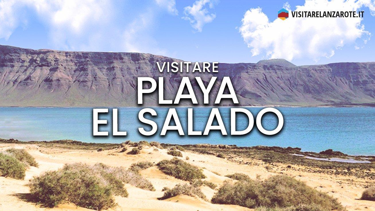Playa El Salado, Lanzarote | Spiaggia dell'isola La Graciosa