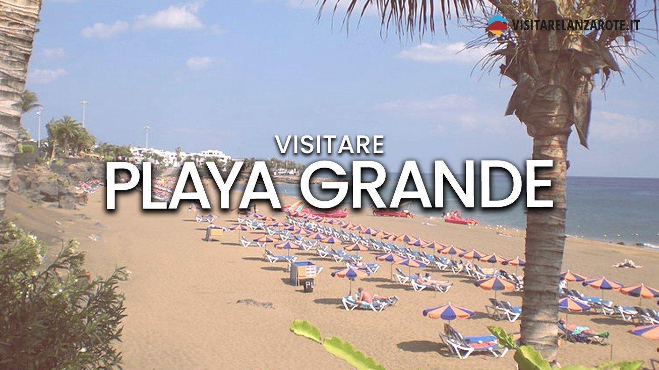Playa Grande, Puerto del Carmen, Tías   Spiaggia dell'isola di Lanzarote