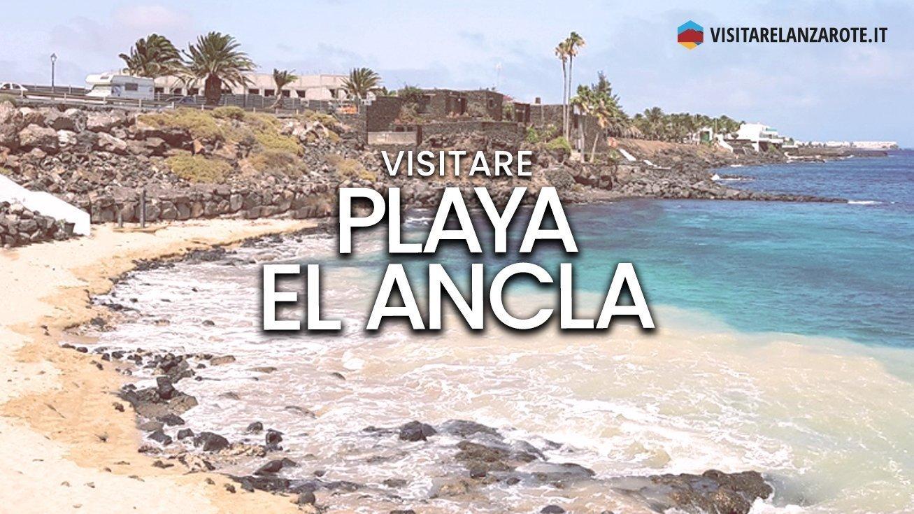 Playa el Ancla, Costa Teguise   Spiaggia dell'isola di Lanzarote
