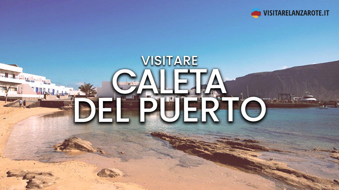 Caleta del Puerto, Lanzarote | Spiaggia dell'isola de La Graciosa
