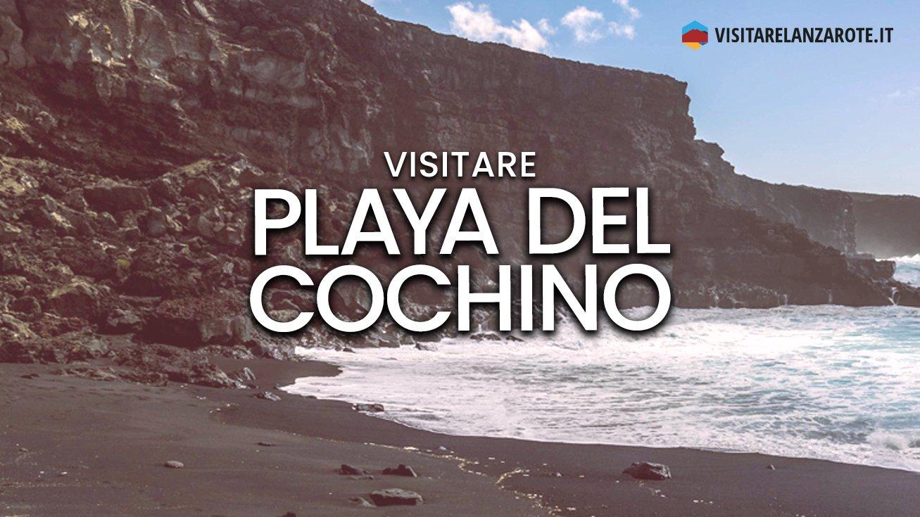 Playa del Cochino, la spiaggia all'interno del Timanfaya | Visitare Lanzarote