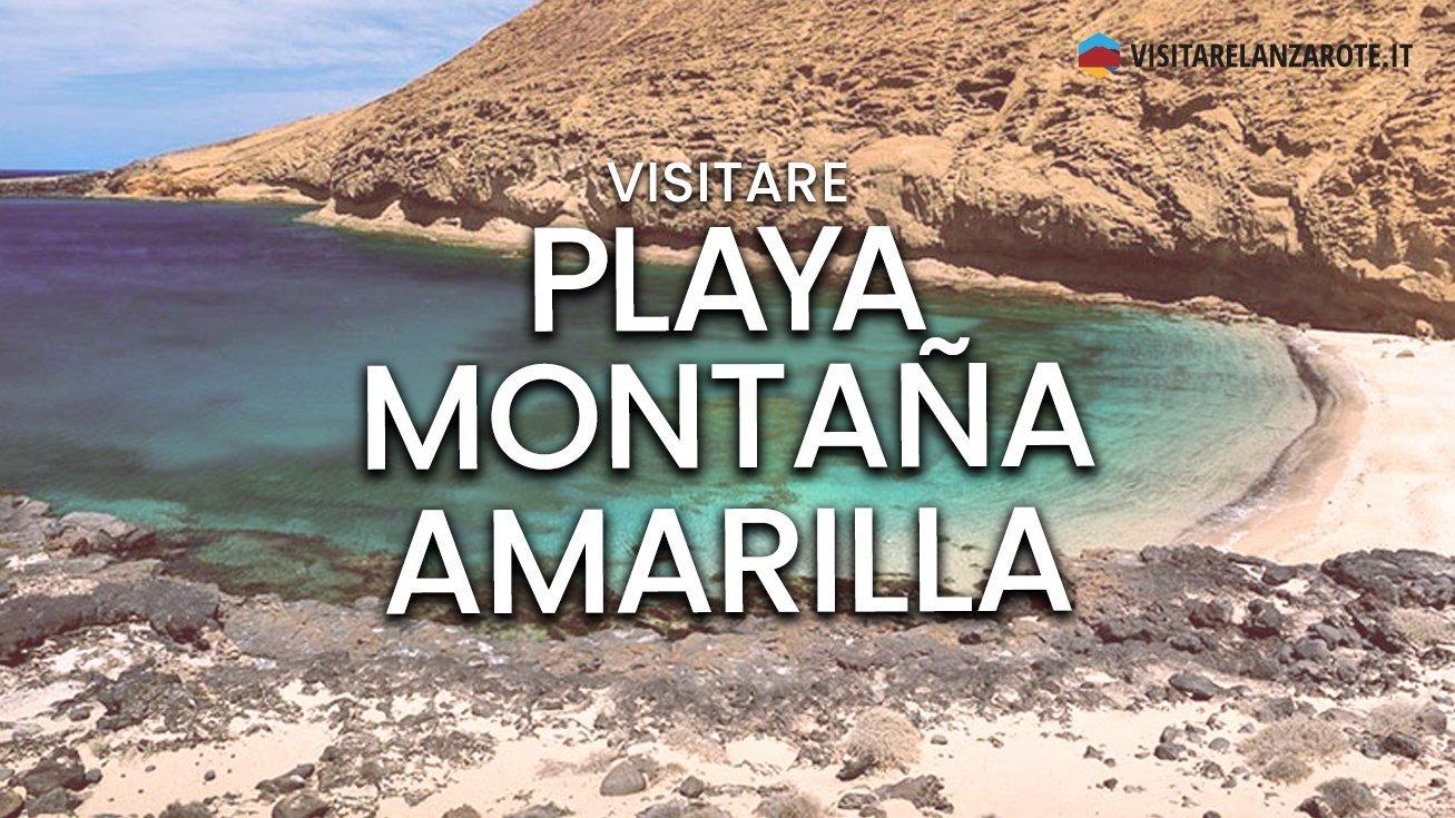 Playa Montaña Amarilla, Lanzarote | Spiaggia dell'isola de La Graciosa