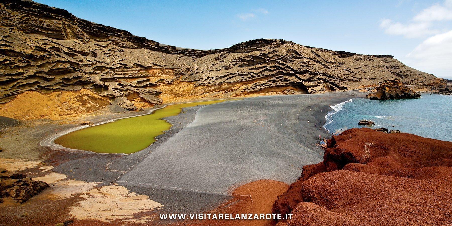 Charco de los Clicos lago verde Lanzarote