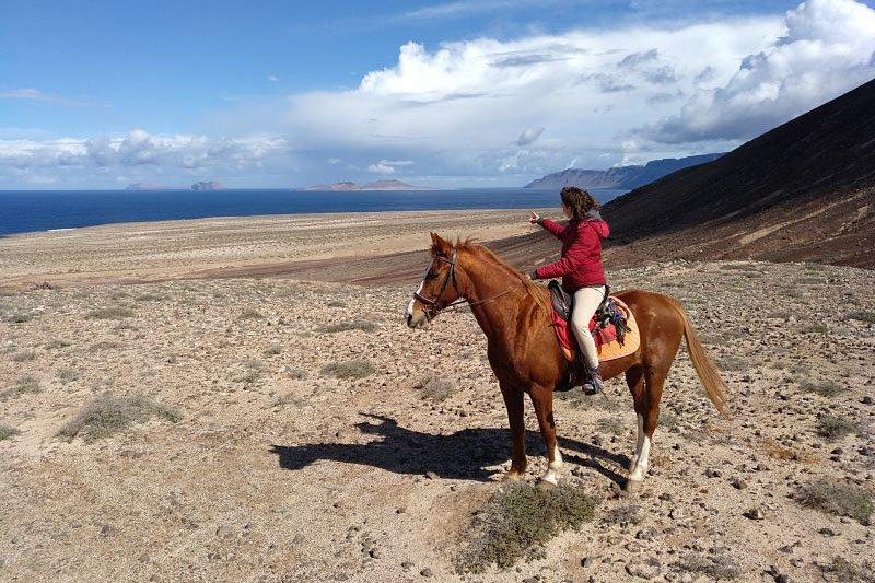 Passeggiata a cavallo in zona Famara